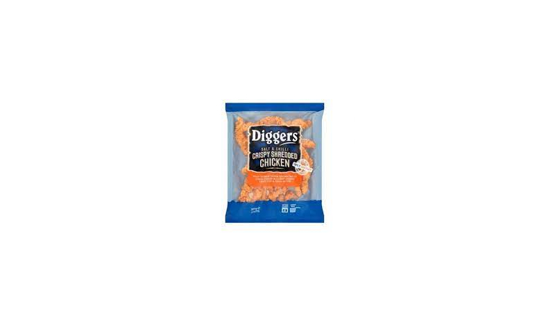 Diggers Chicken Shredded Salt And Chill 12 x 320g