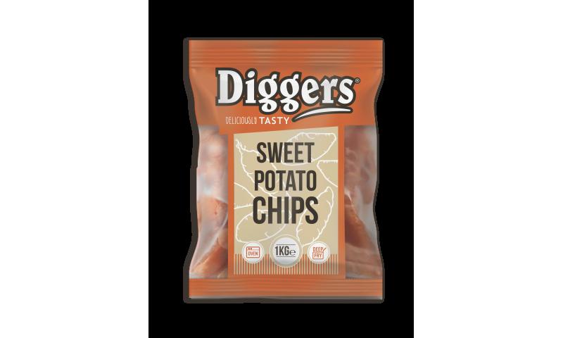 Diggers Sweet potato fries 10 x 1kg
