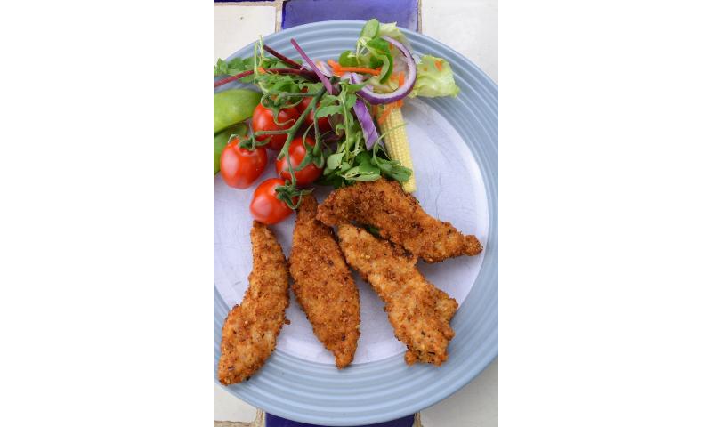 RJ S/F Chicken Goujon 1kg  x 4