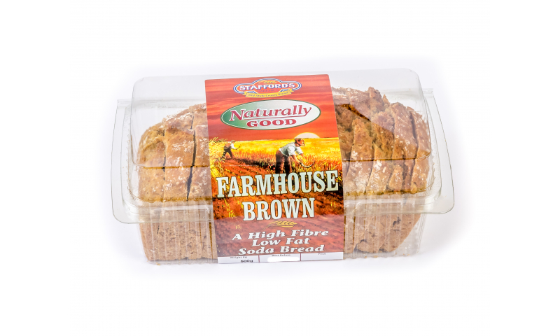Staffords Farmhouse Sliced Brown Bread 540g x12