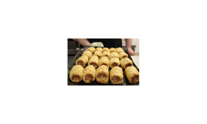 "Hand Made 4"" sausage rolls fresh 4 x 20s"
